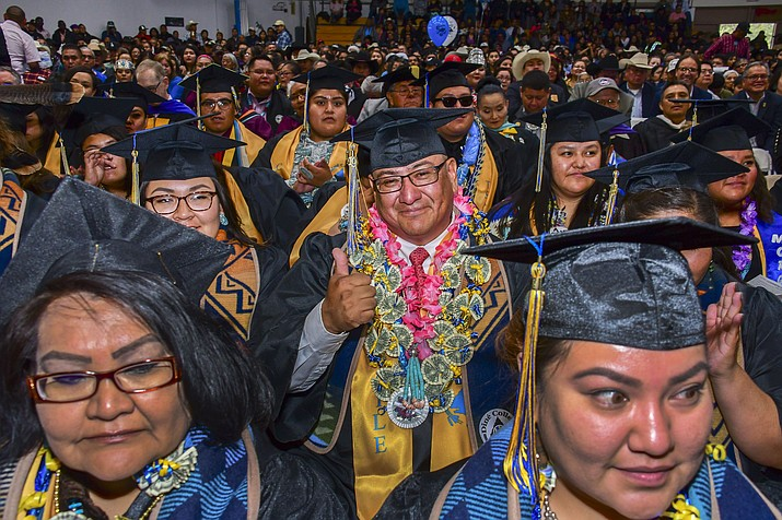 Diné College recently graduated 207 students who received diplomas or certificates. The graduation was the fourth largest in the college's history. (Photo courtesy of Ed McCombs/Diné College)