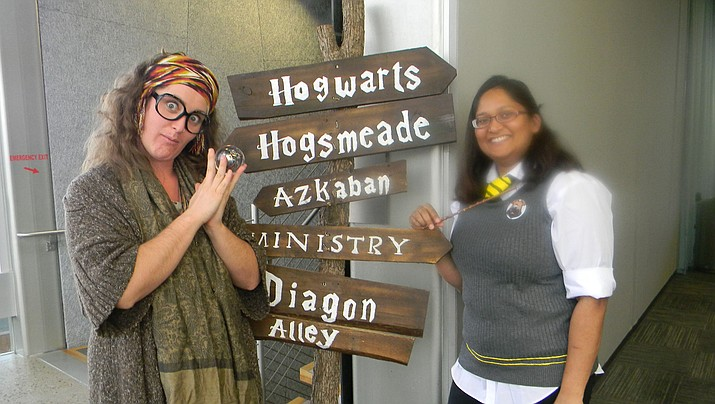Library staff at the 2018 Hogwarts camp. (Jeff Howick/Courtesy)