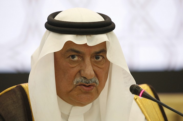 Then Saudi Arabian Finance Minister Ibrahim al-Assaf speaks April 18, 2017, at the opening of the annual meeting of the Arab financial institutions, in Rabat, Morocco. (Abdeljalil Bounhar/AP, File)