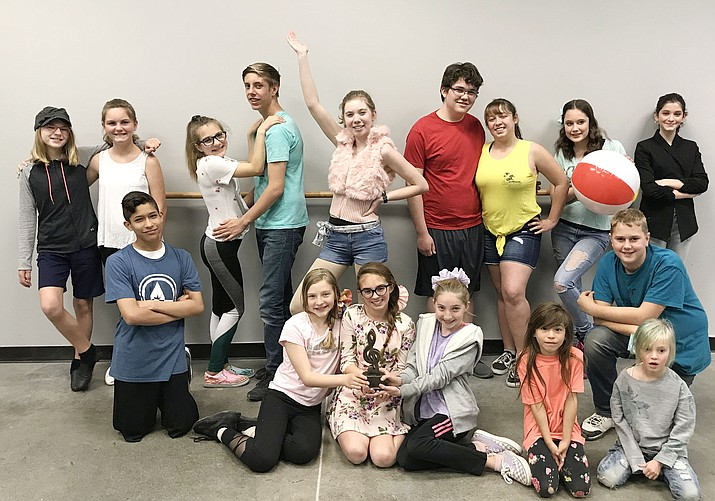 "The cast of ""High School Musical 2 Jr."" The show, at 3 and 7 p.m. Saturday, June 1, is One Stage Family Theatre's first junior show at the Elks Theatre Performing Arts Center. (OneStage Programs/Courtesy)"