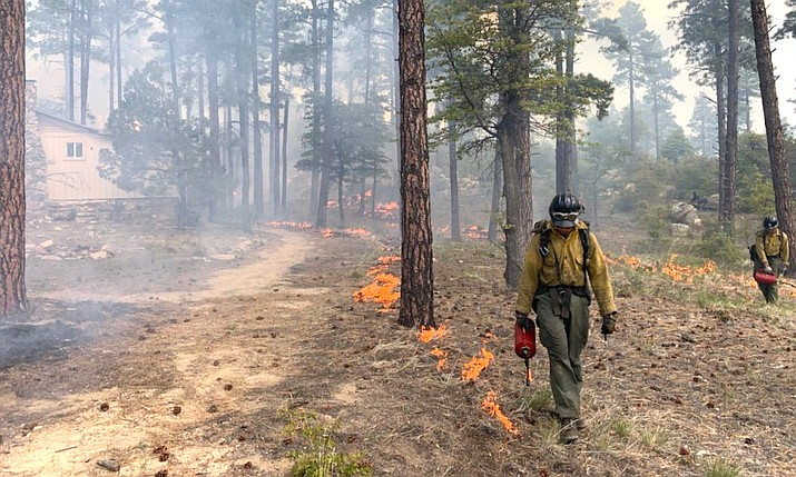 Fire mangers on the Verde Ranger District are planning to conduct grassland burns sometime between the dates of June 1 and July 30, when the conditions are most favorable. Smoke will be highly visible from I-17, Highway 169, the Verde Valley, Dewey/Humboldt and areas immediately surrounding the burn site.  Courtesy Photo / Prescott National Forest