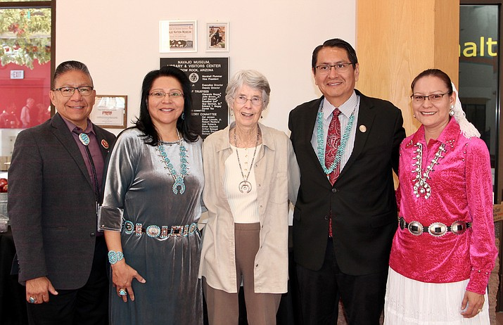 "Navajo Nation President Jonathan Nez, Vice President Myron Lizer, first and second ladies, Chief Justice JoAnn B. Jayne, and members of the 24th Navajo Nation Council were in attendance June 1 as the Navajo Nation Museum unveiled the Navajo Treaty of 1868 – ""Tappan Copy,"" donated by Clare ""Kitty"" P. Weaver to the Navajo Nation, in Window Rock, Arizona. (Office of the President and Vice President)"