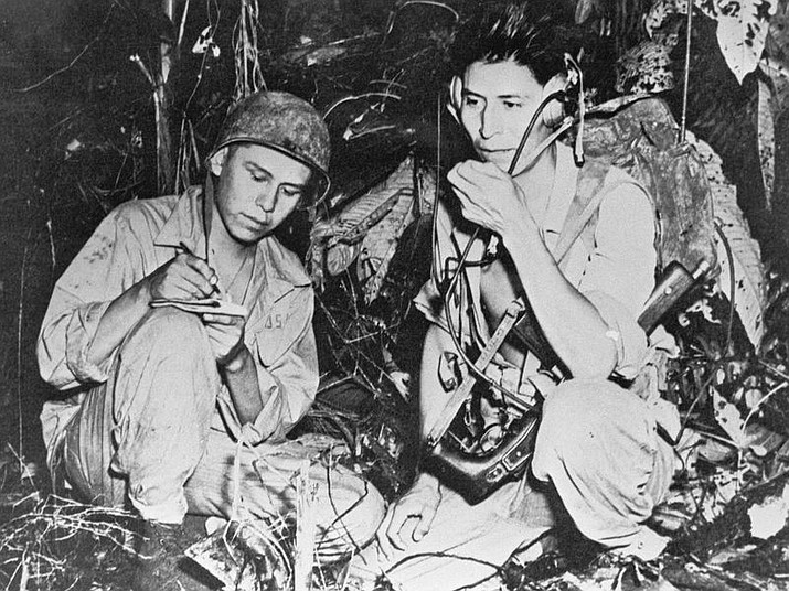 Navajo code talkers helped the United States win World War II by devising a secret code that the Japanese were unable to decipher. (PHOTO COURTESY OF SMITHSONIAN INSTITUTE)