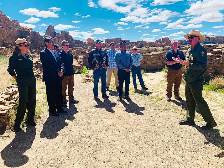 Navajo Nation President Jonathan Nez, along with Pueblo Tribal leaders and New Mexico elected leaders, urge Interior Secretary David Bernhardt to protect Chaco Culture National Historical Park and other sites sacred to tribes from oil and gas development. (Office of the President and Vice President)