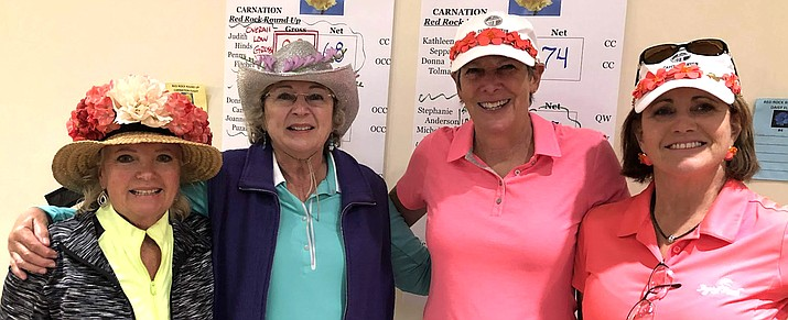 Red Rock Roundup overall low net winners: Dawn Bush and Marion Maby. Overall low gross winners: Penny Fischer and Judith Hinds.