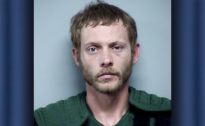 Ryan Howard, 31, was arrested for threatening police and resisting arrest after threatening to kill himself at his Humboldt home Monday, June 3. (Yavapai County Sheriff's Office/Courtesy)