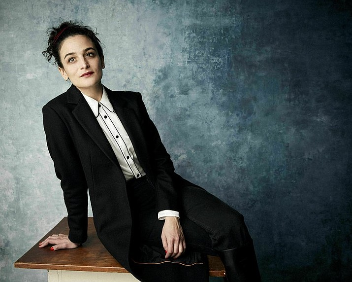 "In this Jan. 26., 2019 file photo, Jenny Slate poses for a portrait to promote the film ""The Sunlit Night"" at the Salesforce Music Lodge during the Sundance Film Festival in Park City, Utah. Slate will speak at this month's graduation ceremony for Cuttyhunk Elementary School, a one-room schoolhouse on the island that has a year-round population of around 12. Slate's audience will be Gwen Lynch, this year's lone graduate of the school that goes up to 8th grade, her family and other Cuttyhunk residents. (Photo by Taylor Jewell/Invision/AP, File)"