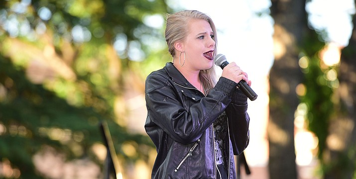"Isabella Martin sings ""I Dreamed a Dream"" during the first round of Prescott Idol 2017, on the courthouse plaza in downtown Prescott. (Les Stukenberg/Courier, file)"