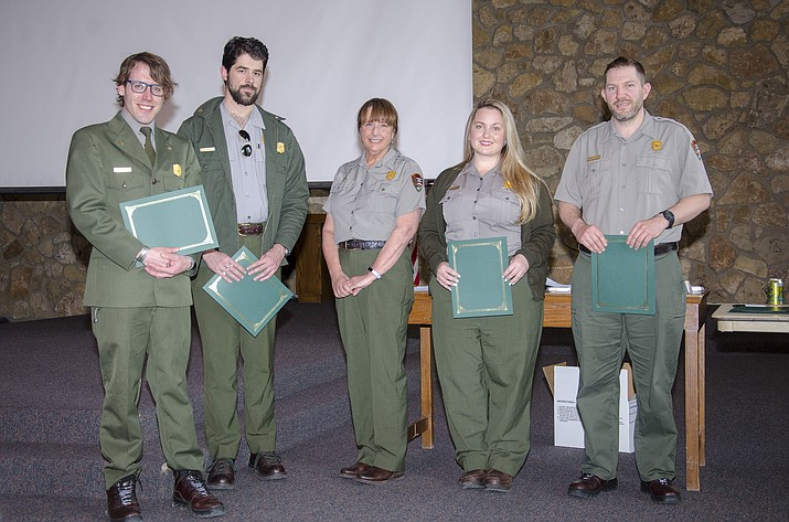 Grand Canyon National Park employees were honored for five years of service May 22. (Photo/NPS)
