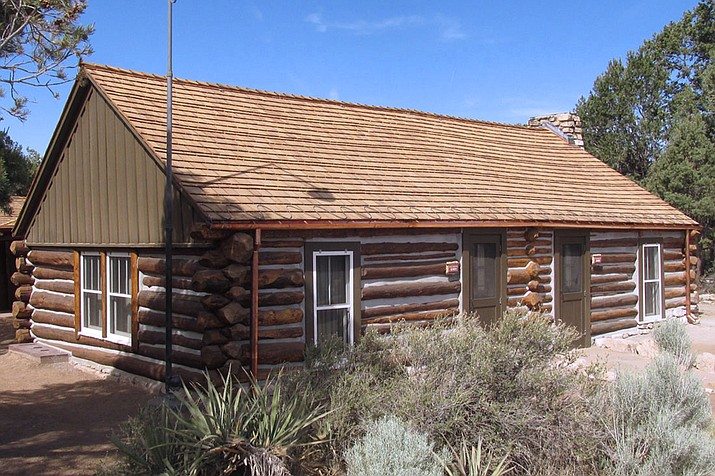 Buckey O'Neill's Cabin rests on the edge of the South Rim of Grand Canyon National Park. The cabin was recently preserved with the help of Williams residents Audey and Tell Eckel, employees of Loven Contracting. (Submitted photo)