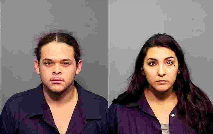 Tusayan residents Reyna Munoz and Ekikiel Valenzuela were charged with aggravated assault by the Coconino County Sheriff's Department May 27. (Photos/CCSO)