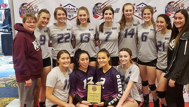 RUSH volleyball 16U club team. (Courtesy)