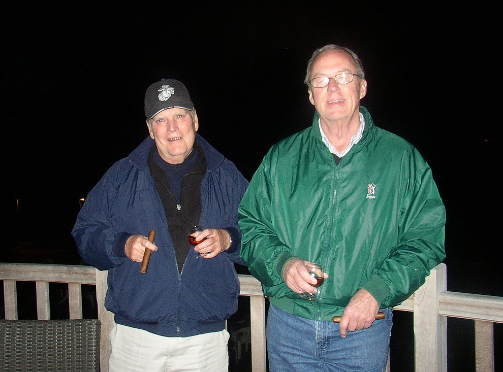 Bill Morrison and Gary Gift during a 2009 tour of the Normandie region of France. (Bill Morrison/Courtesy photo)