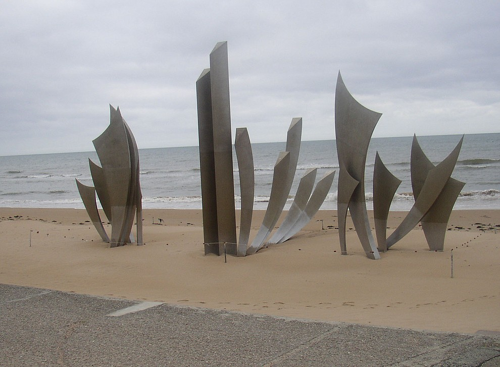 A memorial on Omaha Beach photographed during a 2009 tour of the Normandie region of France. (Bill Morrison/Courtesy photo)