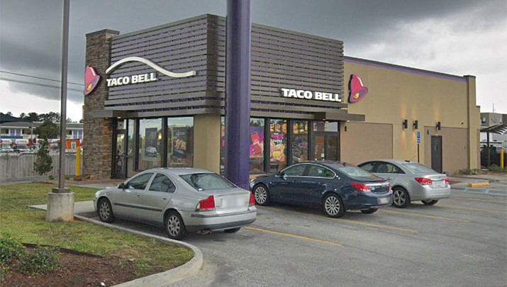 Pictured is the Taco Bell on Gause Blvd in in Slidell, Louisiana. (Google Earth)