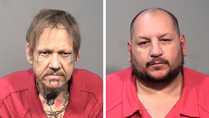 Randal Arrington, 50, and John William Stevens, 43, were arrested Sunday, June 2, on complaints of distributing fentanyl in the greater Prescott area. (Yavapai County Sheriff's Office/Courtesy)