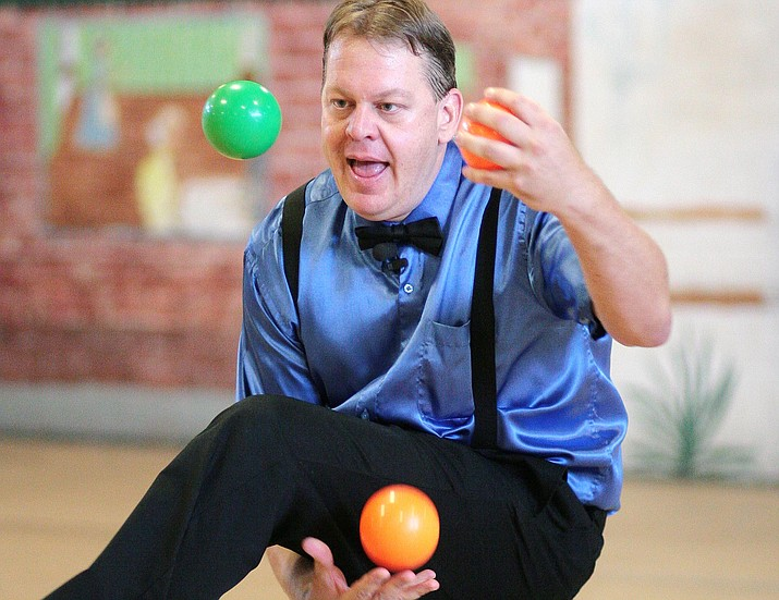 When the Clark Memorial Library closes out this year's Summer Reading Program on July 25, James Reid will juggle and will talk about juggling in space, space navigation with gyroscopes, and he will also juggle books. VVN/Bill Helm