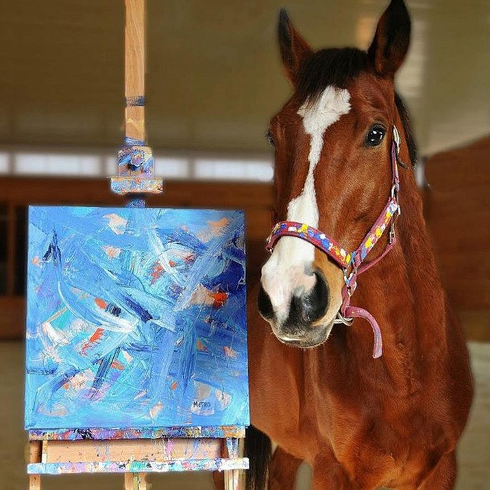 """The poster for """"My Paintbrush Bites,"""" a film about a horse that paints, showing at the Prescott Film Festival at 7 p.m. Thursday, June 13. (Helen Stephenson/Courtesy)"""
