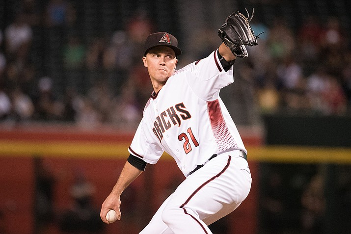 Zack Greinke tossed six innings of scoreless ball along with seven strikeouts Saturday as the D-backs cruised to a 6-0 win over the Jays. (File photo courtesy of by Taylor Jackson/Arizona Diamondbacks)