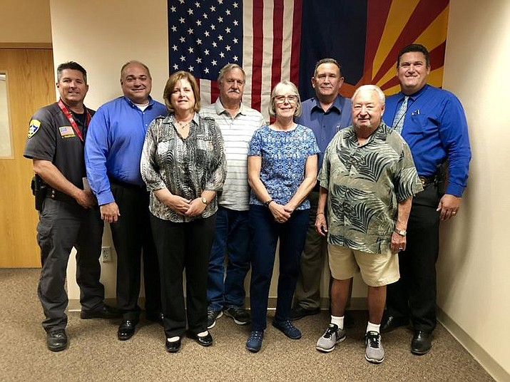 Sheriff Doug Schuster, far right, is joined by volunteers for the sheriff's department's new special investigations unit. (Photo courtesy of Mohave County Sheriff's Office)