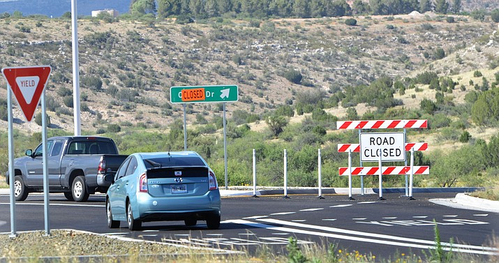 One of the seven routes of the Verde Connect would start at Coury Drive on SR 260 in Camp Verde where Jones Ford is located. The photo is looking toward Cornville from the roundabout in Camp Verde. VVN/Vyto Starinskas