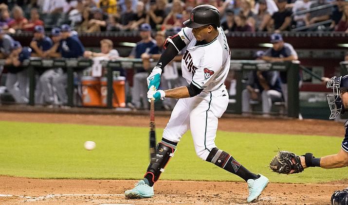 Arizona's Ketel Marte hit a solo home run against the Toronto Blue Jays in the third inning and the Diamondbacks swept Toronto with an 8-2 win Sunday, June 9, 2019. (Arizona Diamondbacks courtesy file photo/Sarah Sachs)