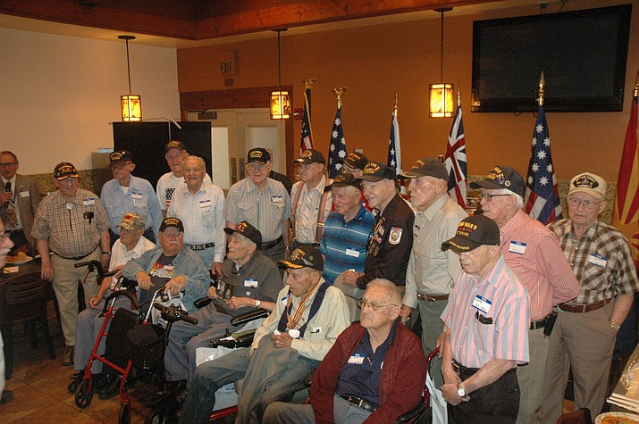 Twenty-three World War II veterans were at Guacamaya's Mexican Grill Saturday, June 8, for a luncheon where they were honored by the Prescott Chapter of the Sons of the American Revolution. (Jason Wheeler/Courier)