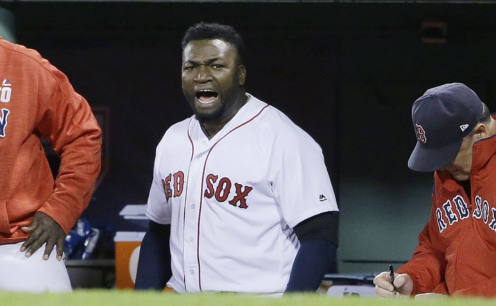 Former Boston Red Sox slugger Ortiz was shot and wounded in his native Dominican Republic, his father told ESPN on Sunday, June 9, 2019. (Elise Amendola/AP, File)