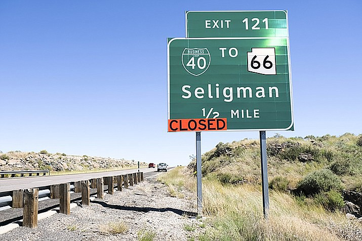 Lanes closures on the business loop through Seligman are scheduled overnight Wednesday into Thursday morning. (Photo courtesy of ADOT)