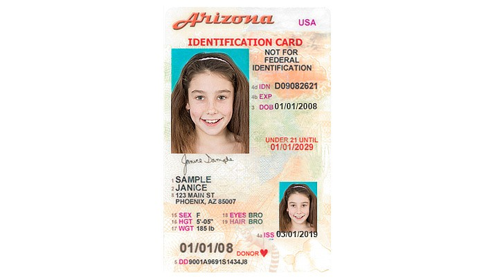 Arizona ID cards have no age restriction. For $12, parents can purchase an ID card for their children, even infants. The card can be an added layer of protection in case of an emergency or law enforcement situation. It can also be a tool to help prevent identity theft and useful for anyone traveling outside the United States. (WNI Illustration)