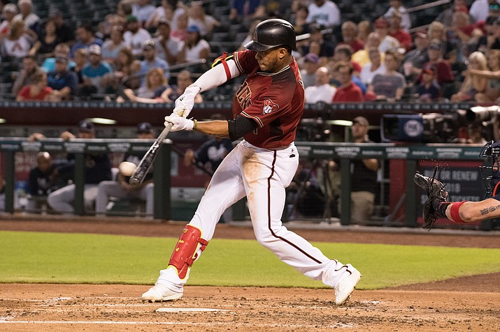 Arizona's Ketel Marte hit a solo homer in the 7th inning Tuesday night, but it wasn't enough as the D-backs lost to the Phillies 7-4. (File photo courtesy of Taylor Jackson/Arizona Diamondbacks)