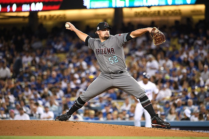 Zack Godley earned the win with 3 2/3 innings of scoreless relief and the Arizona Diamondbacks smacked eight home runs in a 13-8 win over the Phillies in Philadelphia on Monday, June 10, 2019. (Arizona Diamondbacks file/Sarah Sachs)