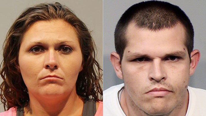 Kristina Craft, 32, and Mark Norris, 29, were arrested May 31 in Chino Valley for allegedly writing bad checks and selling items purchased with those checks. (Chino Valley Police Department/Courtesy)
