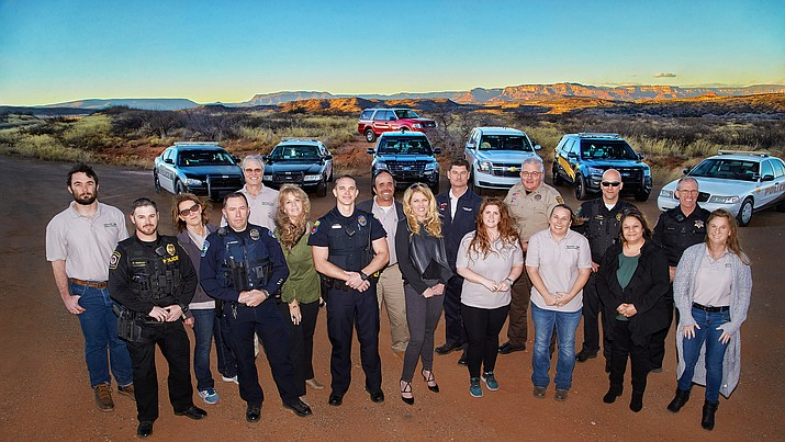 Yavapai County law enforcement members with Spectrum Healthcare staff in the Verde Valley area. (Spectrum Healthcare/Courtesy)