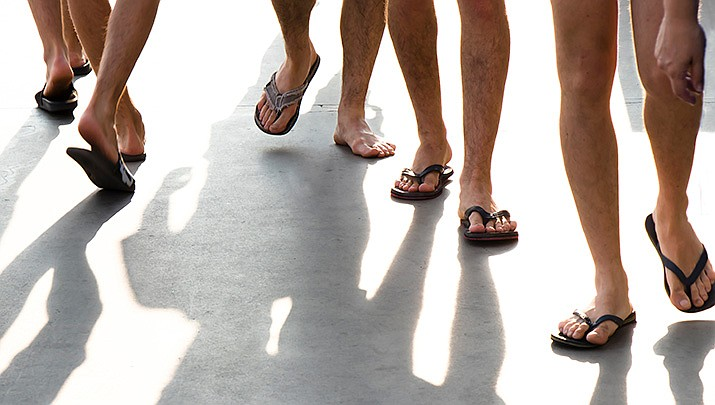 Connecticut town bans flip-flops at