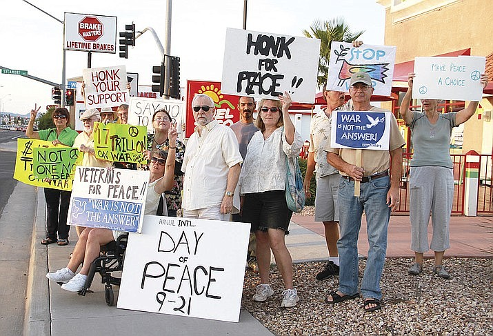 Preparations are in progress for this year's International Day of Peace on Sept. 21, 2019 at Lewis Kingman Park. (Daily Miner file photo)
