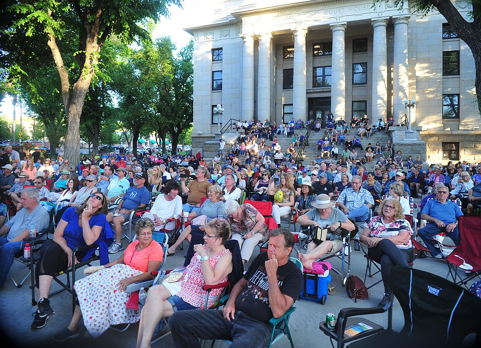 Hundreds attend Prescott Sings, formerly Prescott Idol, as they open their 10th season Thursday, June 6 on the Courthouse Plaza. (Les Stukenberg/Courier)