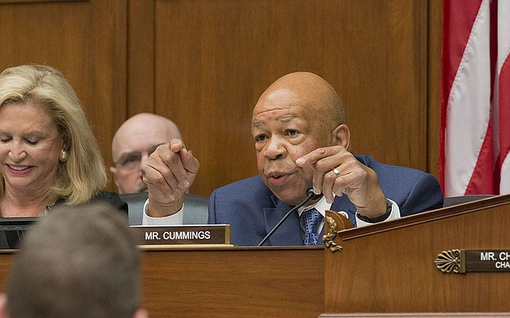 House Oversight and Reform Committee Chairman Elijah E. Cummings, D-Md., is considering whether to hold Attorney General William Barr and Commerce Secretary Wilbur Ross in contempt for failing to turn over subpoenaed documents related to the Trump administration's decision to add a citizenship question to the 2020 census. (Photo by Emily Zentner/Cronkite News)