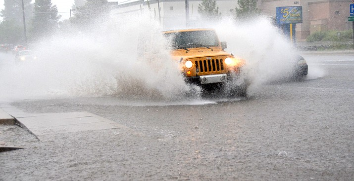 The three most important factors to avoid hydroplaning are tire tread depth, speed and the amount of water on the road. Driving at slower speeds can greatly improve your chances of making it through a storm safely. VVN file photo