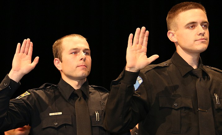 The 22 new officers joining eight law enforcement agencies across Arizona participated in a traditional graduation ceremony for the Northern Arizona Regional Training Academy headquartered at the Yavapai College Prescott campus.