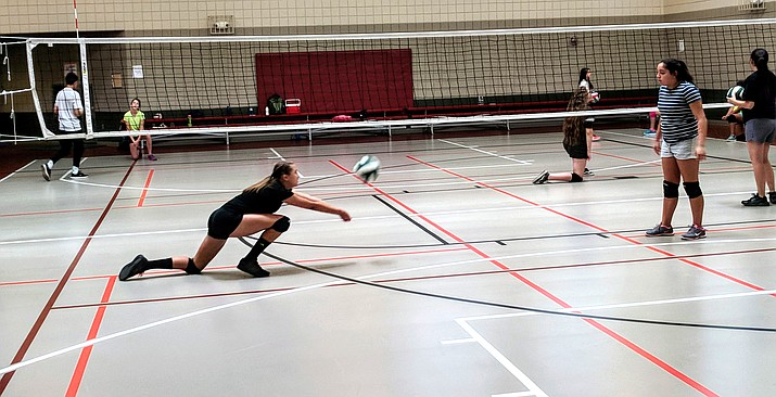 Volleyball campers in first through fourth grade will learn the basic fundamentals of hitting, bumping, setting and spiking. Courtesy photo