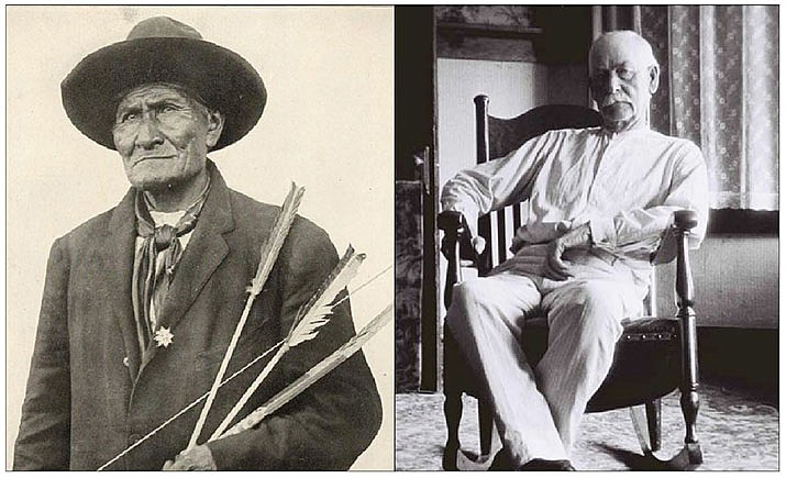 LEFT: Older Geronimo. RIGHT: Older Wyatt Earp. (Images courtesy of the author)
