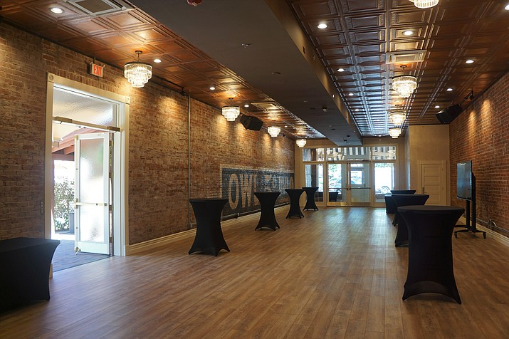 Renovations were completed recently on the historic storefront next to the Holiday Courtyard on Whiskey Row. The space, which opened with an event on June 12, brings an indoor/outdoor aspect to the Holiday Courtyard. (Cindy Barks/Courier)