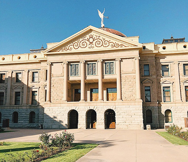 State officials and architects are pondering the future of newly vacated space in the Arizona Capitol complex, on the third floor of an annex sitting between the 118-year-old copper-domed Capitol and the nine-story Executive Tower. (Office of the Arizona Secretary of State photo)