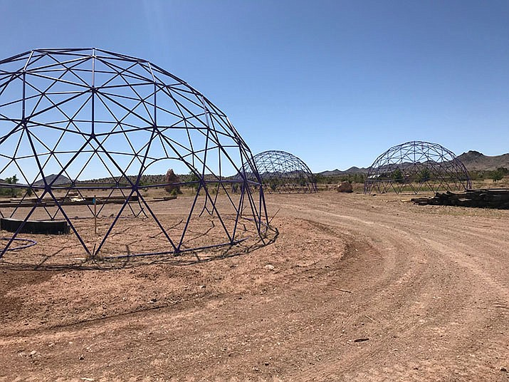 In this file photo, hemp project domes at Veteran Village Kins Community in Golden Valley. A unit of wheat is a called a bushel, and a standard weight of potatoes is called a century. But hemp as a fully legal U.S. agricultural commodity is so new that a unit of hemp seed doesn't yet have a universal name or an agreed-upon quantity. (Courtesy photo)