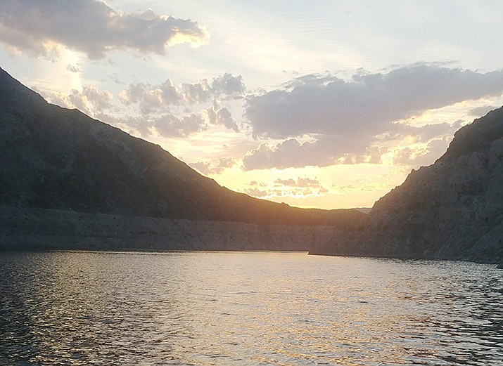 Those fishing in this weekend's Stripe-R-Rama are hoping to see a beautiful sunrise Sunday. (Don Martin/For the Miner)