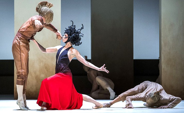 """The contemporary face of The Royal Ballet is shown in works from three of today's leading choreographers. Christopher Wheeldon's """"Within the Golden Hour"""" is based around seven couples separating and intermingling, to music by Vivaldi and Bosso and lit with rich colors suggested by sunset."""