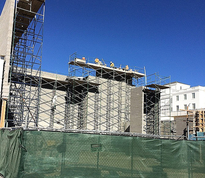 Walls rise for the two-story, 17,870-square-foot outpatient laboratory and pharmacy building at the Bob Stump Medical Center. (Nanci Hutson/Courier, file)