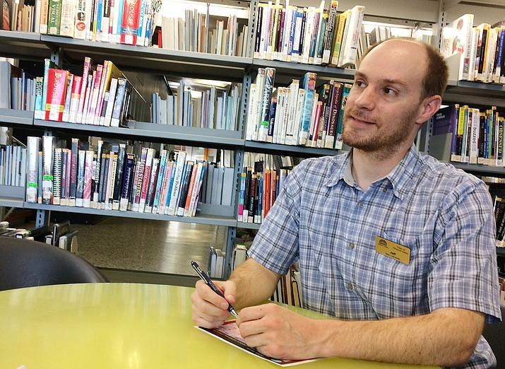 New Teen Librarian Jeff Howick, Prescott Valley Public Library. (Sue Tone/Tribune)