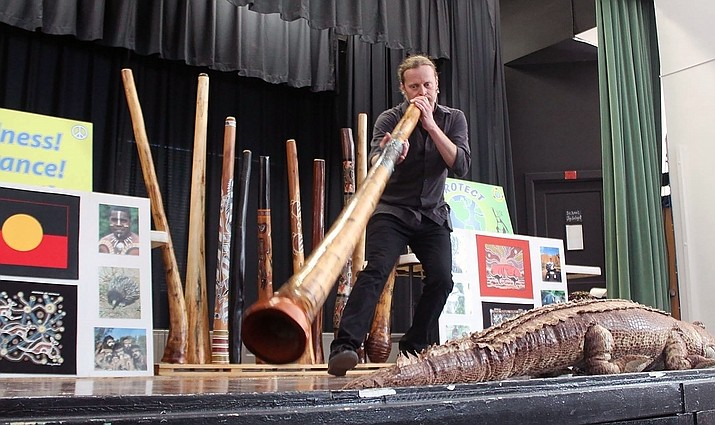 Rob Thomas will perform on the the didgeridoo, an early Australian musical instrument, at 10 a.m. Friday, June 21, at the Prescott Valley Public Library. (Didgeridoo Down Under/Courtesy)